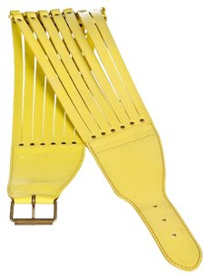 ALAÏA Alaia Yellow Leather Strappy Belt (Size 70)