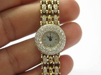 Alan Adler 18kt Womens Diamond Quartz Watch Yellow Gold 6.00ct