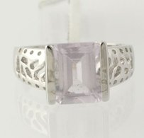 Other Amethyst Cocktail Ring - Sterling Silver Genuine Womens Emerald