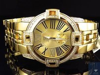 Aqua Master Joe Rodeo 43mm Swiss Gold Multi Link Diamond Watch W349 1.75 Ct