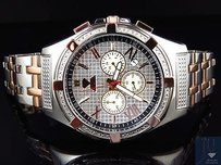 Aqua Master Jojo Joe Rodeo Rose Gold Steel Mm W349 Genuine Diamond Watch