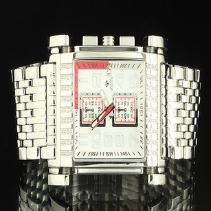 Aqua Master Square Cut Custom Men Jojino Sleek Steel Metal Band Watch Rodeo Jojo
