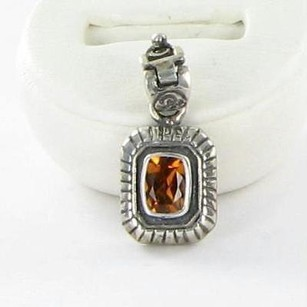 Arista C-11bg Ut U Of Texas Longhorns Charm Pendant Citrine 18kyg 925