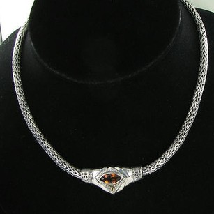 Arista N-11a Ut Univers Of Texas Longhorns Necklace Citrine 925 18k Yg