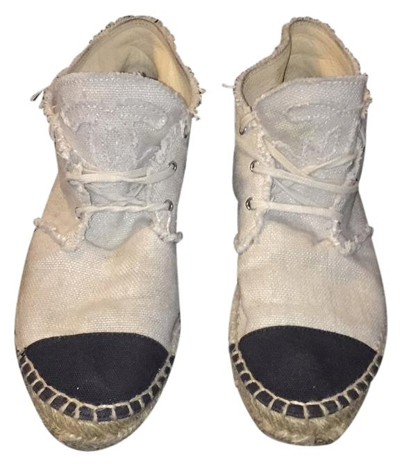 chanel tennis shoes. chanel beige and black athletic tennis shoes