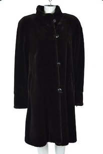 Other Only At Bloomingdales Womens Basic Faux Fur Long Sleeve Coat