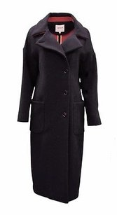 Other Lener Asymmetric Button Front Wool Blend Coat