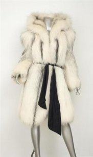 Other Vintage 1980s Arctic Marble Fox Fur Hood Jacket Pockets 404 Coat