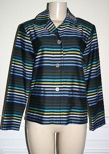 Other Goodclothes Womens Black Striped Button Front Multi-Color Jacket