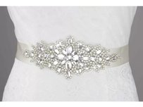 Beaded Portion Is About 2 Inches By 16 Inches To Cover The Front Sew On A Satin Ribbon 2 Inches By 3 Yards Color Ivory