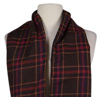 Other Binding Love Brown Blue Red Yellow Plaid Scarf One Cotton
