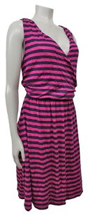 Other Felicity Cocoa Striped Faux Wrap Nordstrom Dress