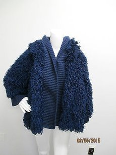 Mouche Of Italy Boucle Blue Jacket