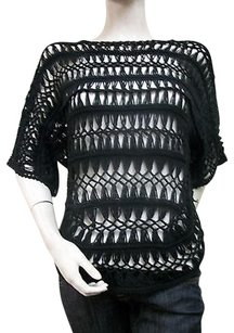 Other Ethyl 100 Cotton Crocheted Dolman Sleeve H72blk Sweater