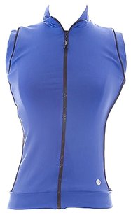 Body Up By Be Up Womens Blueblk Meshing Around Athletic Vest