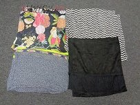 Boutique Lot Of Black White Pink Green Casual Floral Silk Blend Scarves B3264