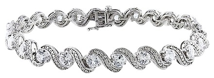 Other Sterling Silver Created White Sapphire Bracelet 7.25 7.68 Ct