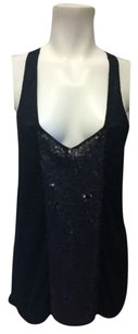 The Addison Story Sequin Top Black