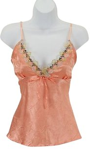 Gold Silver Sequins Top Coral