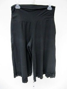 Womens Equestrian Wide Capri/Cropped Pants Black