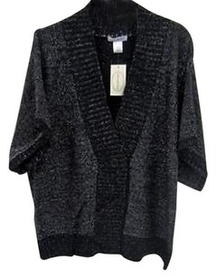 Linea Donna Blk Blue Gray Sweater