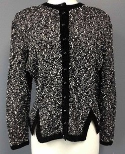 Other Arlin York Vintage White Wool Blend Button Up Cardigan Sma 1486 Sweater