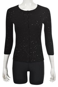 Other Aqua Cashmere Womens Cardigan Sequined Cashmere Sweater