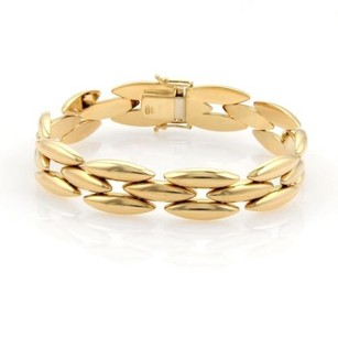 Cartier 18k Yellow Gold Row Gentiane Rice Link Bracelet