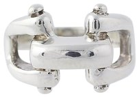 Chain Linked Design Ring - Sterling Silver 925 Womens Chunky Fashion