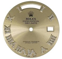 Champagne Roman Diamond Dial For Rolex Day-date Ii 41mm President 218238 0.75 Ct