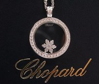 Chopard 18kt Snowflake Diamond Pendant Necklace Wg .57ct