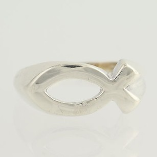 Christian Fish Ring - Sterling Silver Faith Womens 12