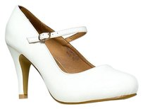 Closed-toe Garden White Pumps
