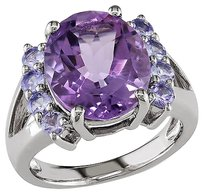 Other Sterling Silver 4 35 Ct Tgw Amethyst Tanzanite Fashion Ring