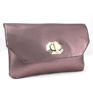 Other Miadora Naomi Metallic Flap Closure Wallet Bronze Clutch