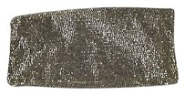 Monya Womens Beaded Silver Clutch