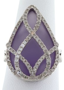 Elegant,Amethyst,.60,Ct,Diamond,Tear,Drop,Ladies,Ring
