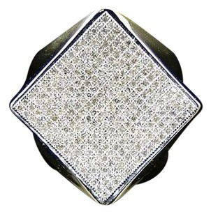 Other 10k Mens Yellow Gold Round Cut Diamond Square Pinky Fashion Ring 1.0 Ct