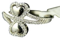 Other 10k Ladies Womens 13 Mm Diamond Promise Love Heart Ring