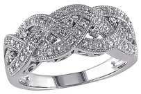 Other Sterling Silver 18 Ct Diamond Tw Fashion Braided Diamond Accent Woven Ring I3