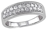 Other Sterling Silver 12 Ct Diamond Tw Fashion Engagement Studded Ring I3