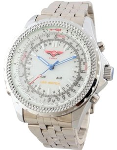 Other Cohro G T Sky Shock Gmt904wht Seiko Mvnt Dual Time White Cockpit Men Watch Gdx