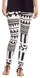 Stretch Comfy breathable BLACK WHITE TRIBAL Leggings