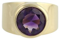 Other Contemporary Amethyst Ring - 14k Yellow Gold February Solitaire 3.20ct