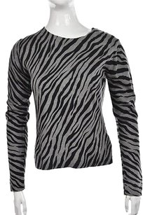 Other Womens Crewneck Animal Print Sweater
