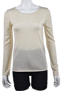 Other In Cashmere Womens Crewneck Marbled Long Sleeve Shirt Sweater