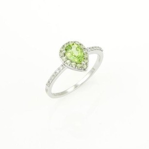 Other Damiani Bliss Green Garden Peridot Diamond Ring In 18k White Gold