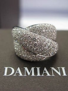 Damiani Gomitolo 18kt Swirl Pave Diamond Jewelry Ring Wg 3.66ct