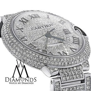 Diamond Cartier Ballon Bleu W69012z4 Automatic Watch Diamond Pave Dial