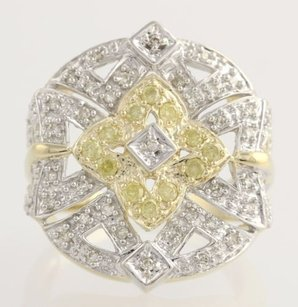 Other Diamond Cocktail Ring - 10k Yellow White Gold Womens 14 Genuine .50ctw